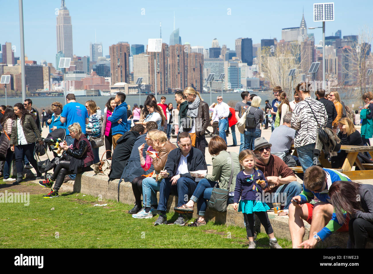 Smorgasburg Brooklyn Flea Food Market NYC - Stock Image