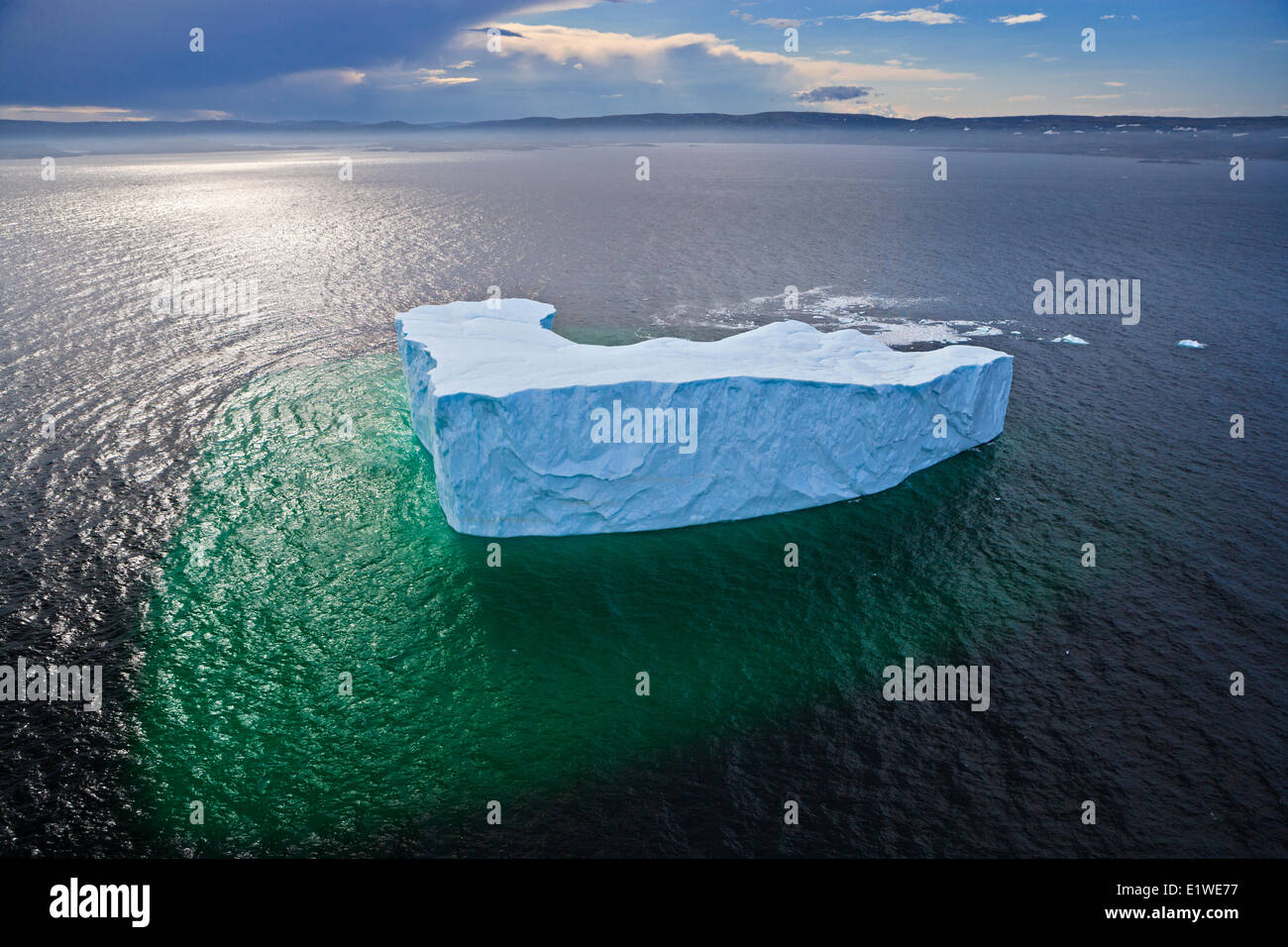 aerial-view-of-an-iceberg-in-the-strait-