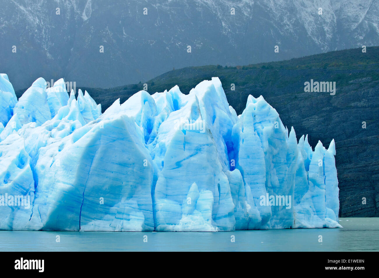 Grey Glacier, Torres del Paine National Park, southern Patagonia, Chile - Stock Image