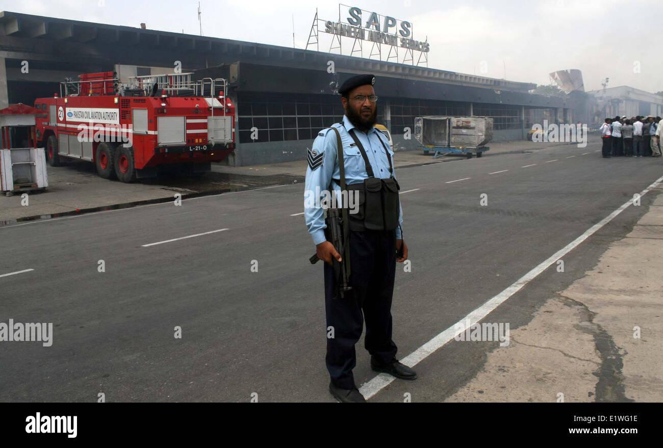 Karachi, Pakistan  10th June, 2014  View of devastated cargo
