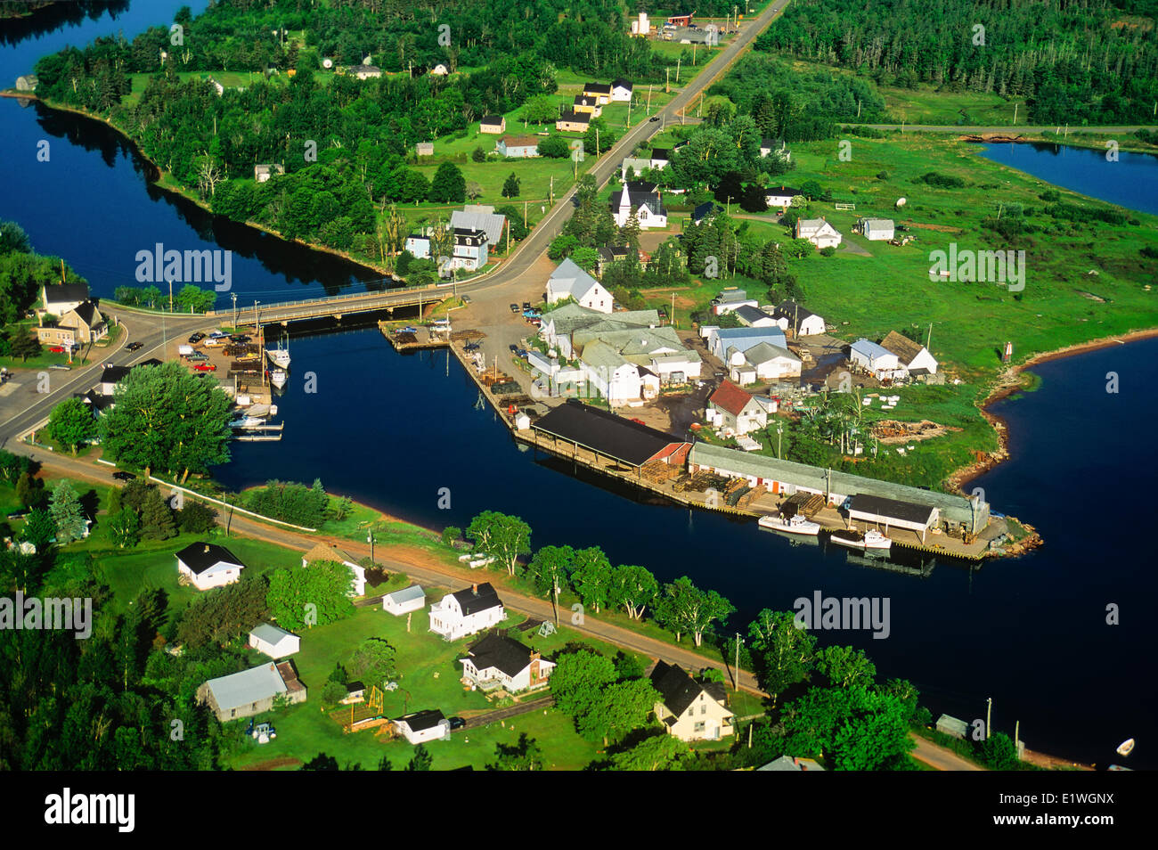 Aerial of Murray Harbour, Prince Edward Island, Canada - Stock Image