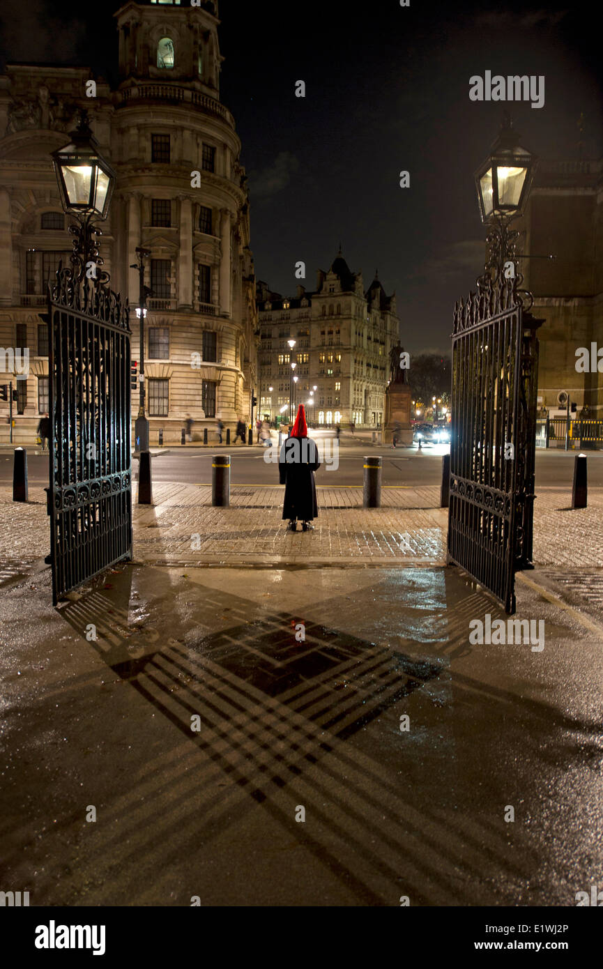 Trooper on guard duty at Horse Guards - Stock Image