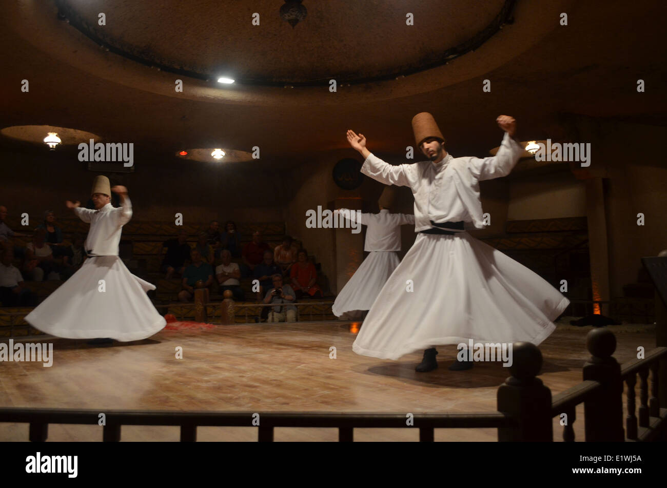 The whirling dervishes dance the'Sema'a journey through mindto reachperfection and a greater sense ofperfection - Stock Image