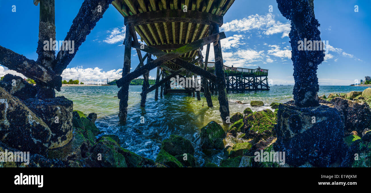 Under the Ambleside Pier. West Vancouver, B.C. Canada. - Stock Image