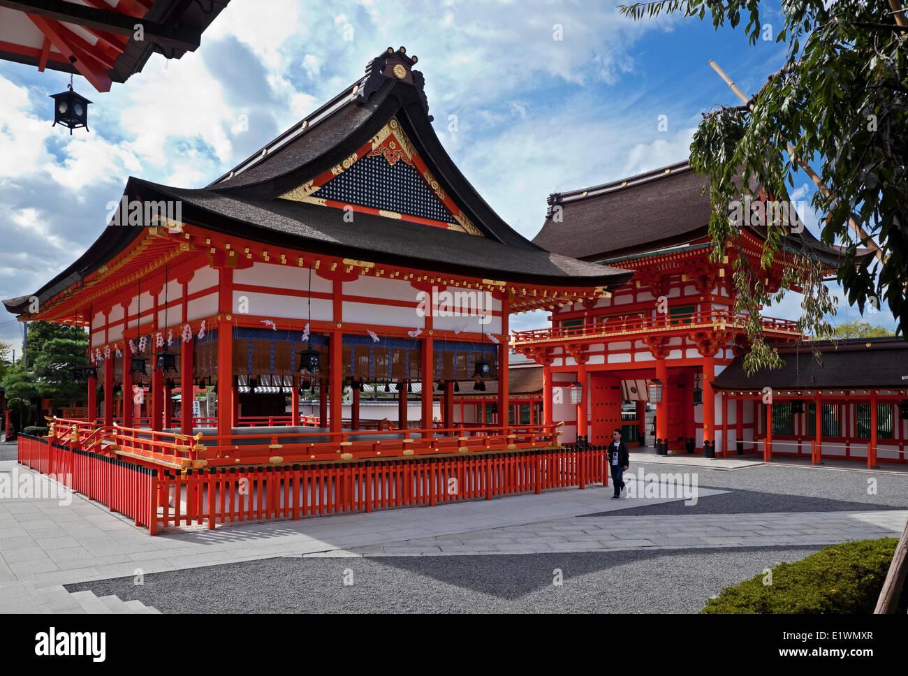 Fushimi Inari shrine complex - Stock Image