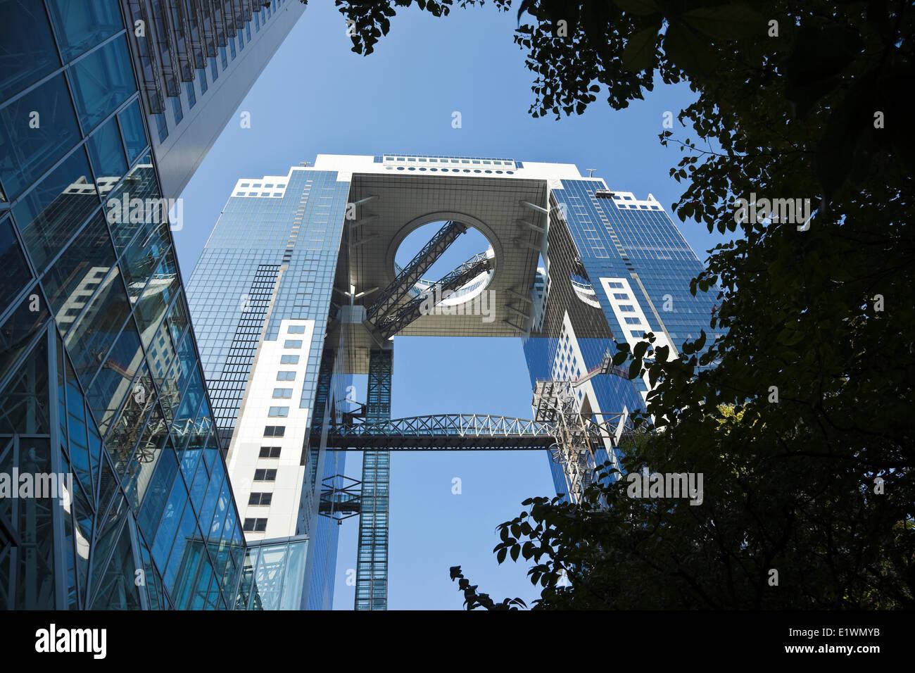 One of Osaka's most recognizable landmarks, the Umeda Sky Building, Osaka, Japan - Stock Image