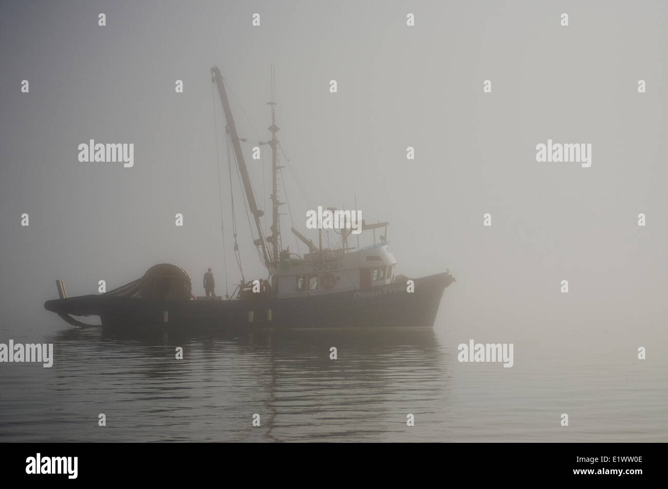 Fishing boat, Johnstone Strait, Vancouver Island, British Columbia, Canada. - Stock Image