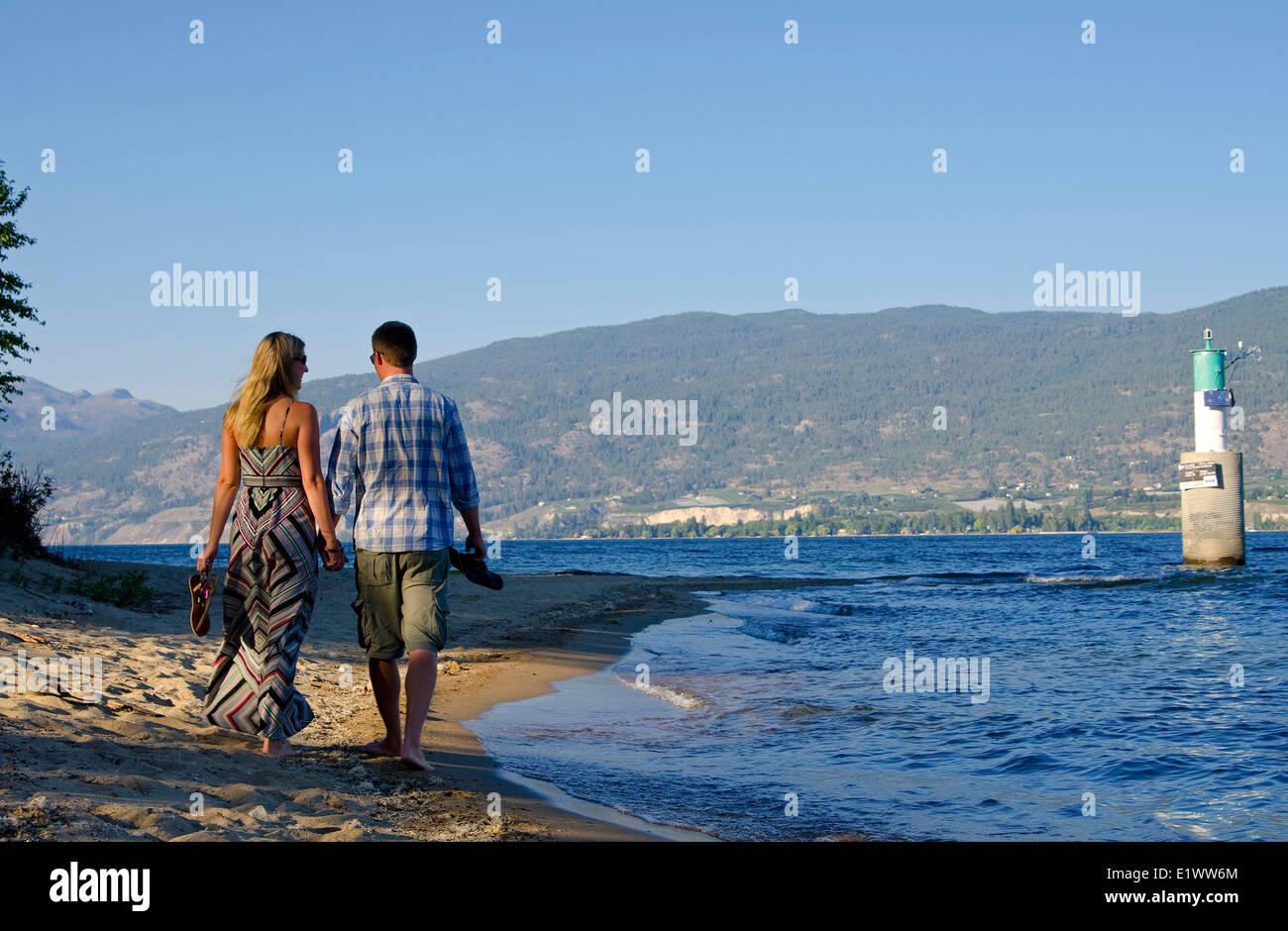 Powell Beach, Summerland, British Columbia, Canada. MR_015. - Stock Image