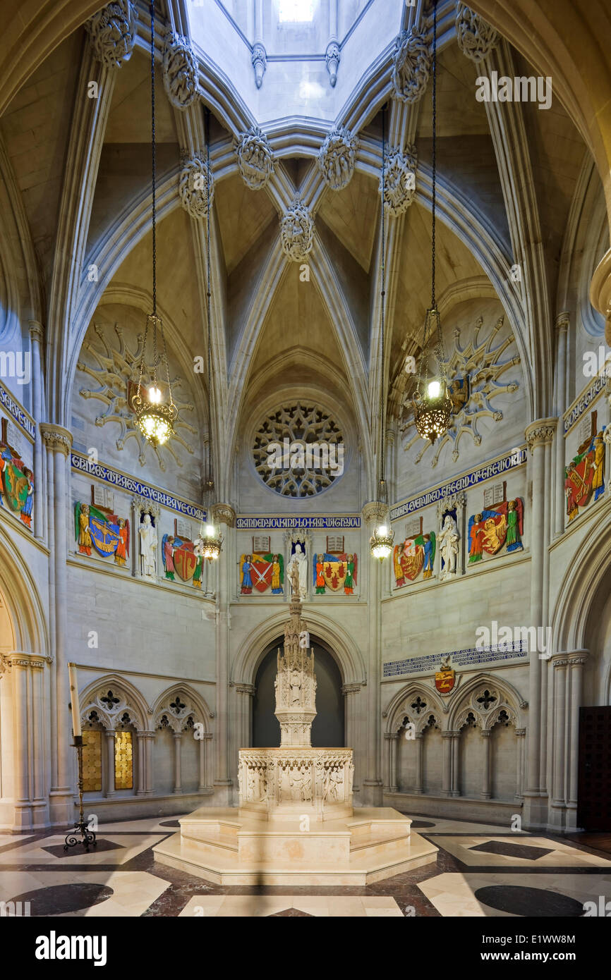 With funds donated by the Stuyvesant family the Cathedral Church Saint John the Divine baptistry was completed in - Stock Image