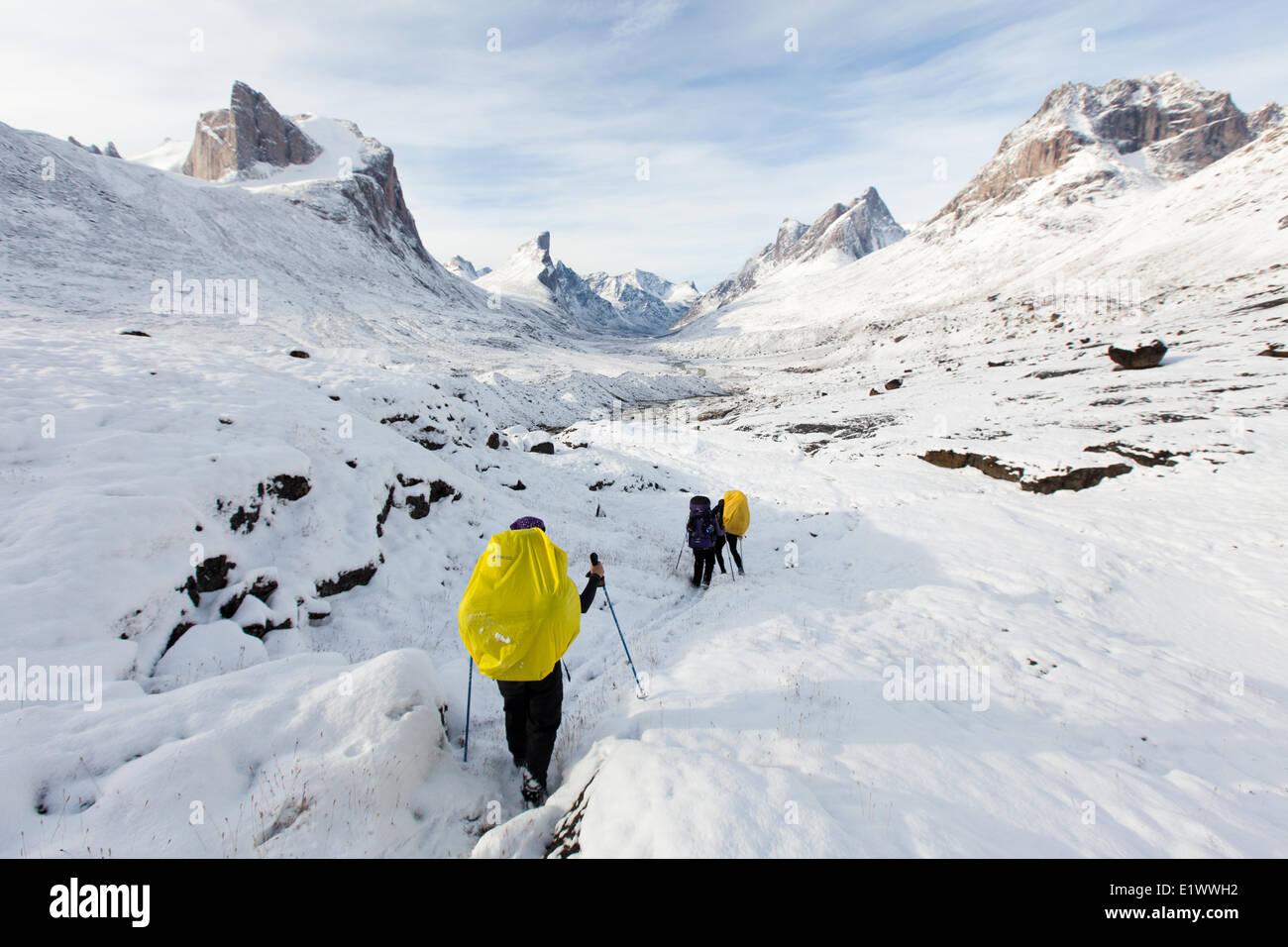 Giant Mine townsite and Aurora Borealis, Northwest Territories, Canada Stock Photo