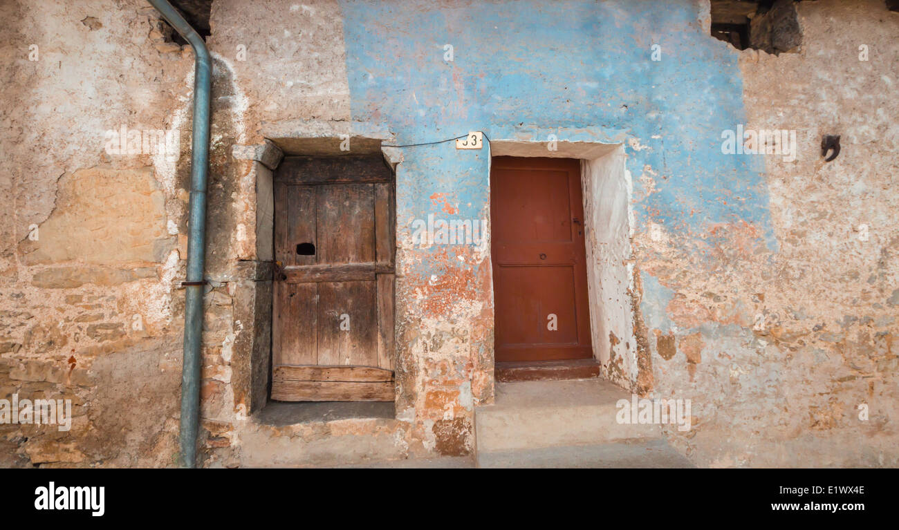 Doors and windows of an ancient house in a little village of italy & Doors and windows of an ancient house in a little village of italy ...