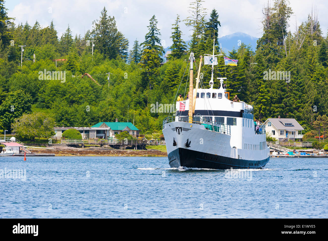 The M.V. Frances Barkley is a regular sight supplying towns villages with scheduled stops in around the Barkley - Stock Image