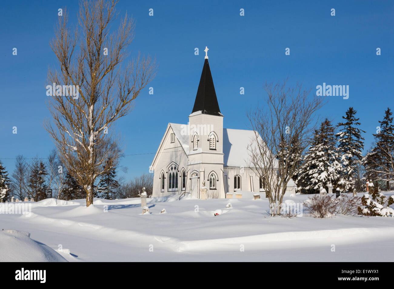 Christ Church Anglican Church, Summerfield, Prince Edward Island, Canada - Stock Image