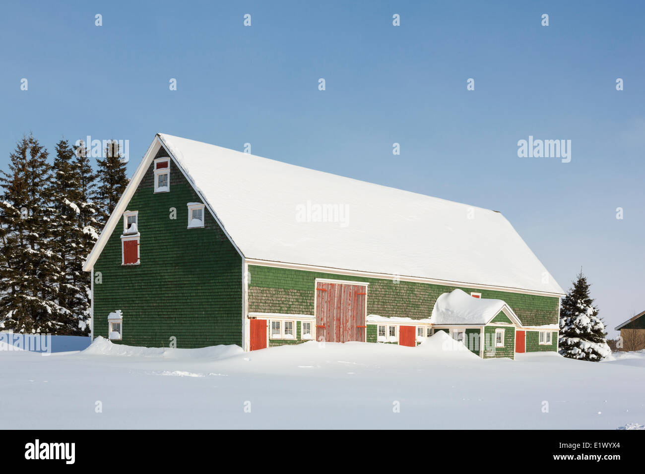 Farm, Burlington, Prince Edward Island, Canada - Stock Image