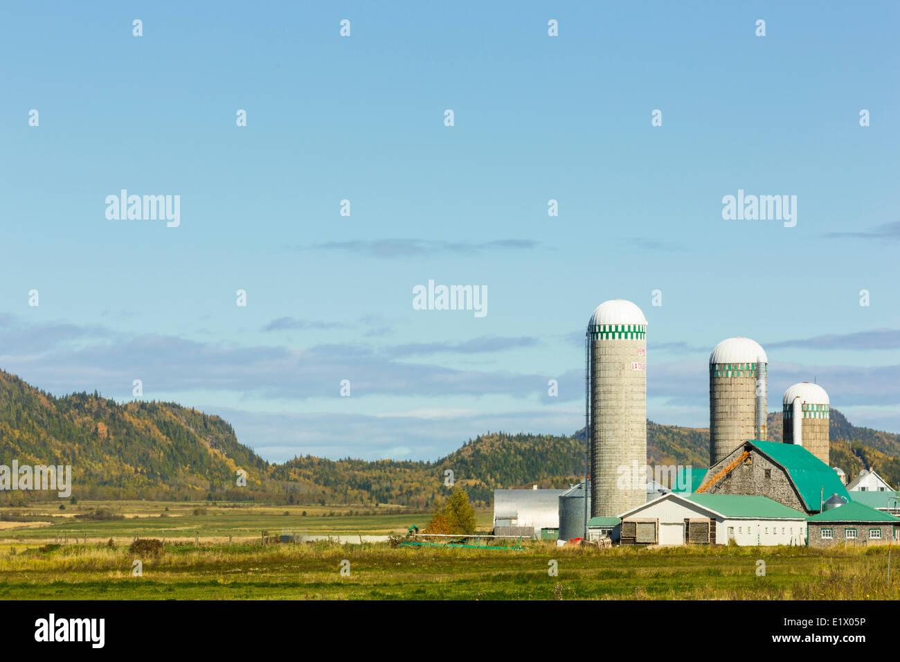 Farm, Saint-Fabian, Quebec, Canada - Stock Image