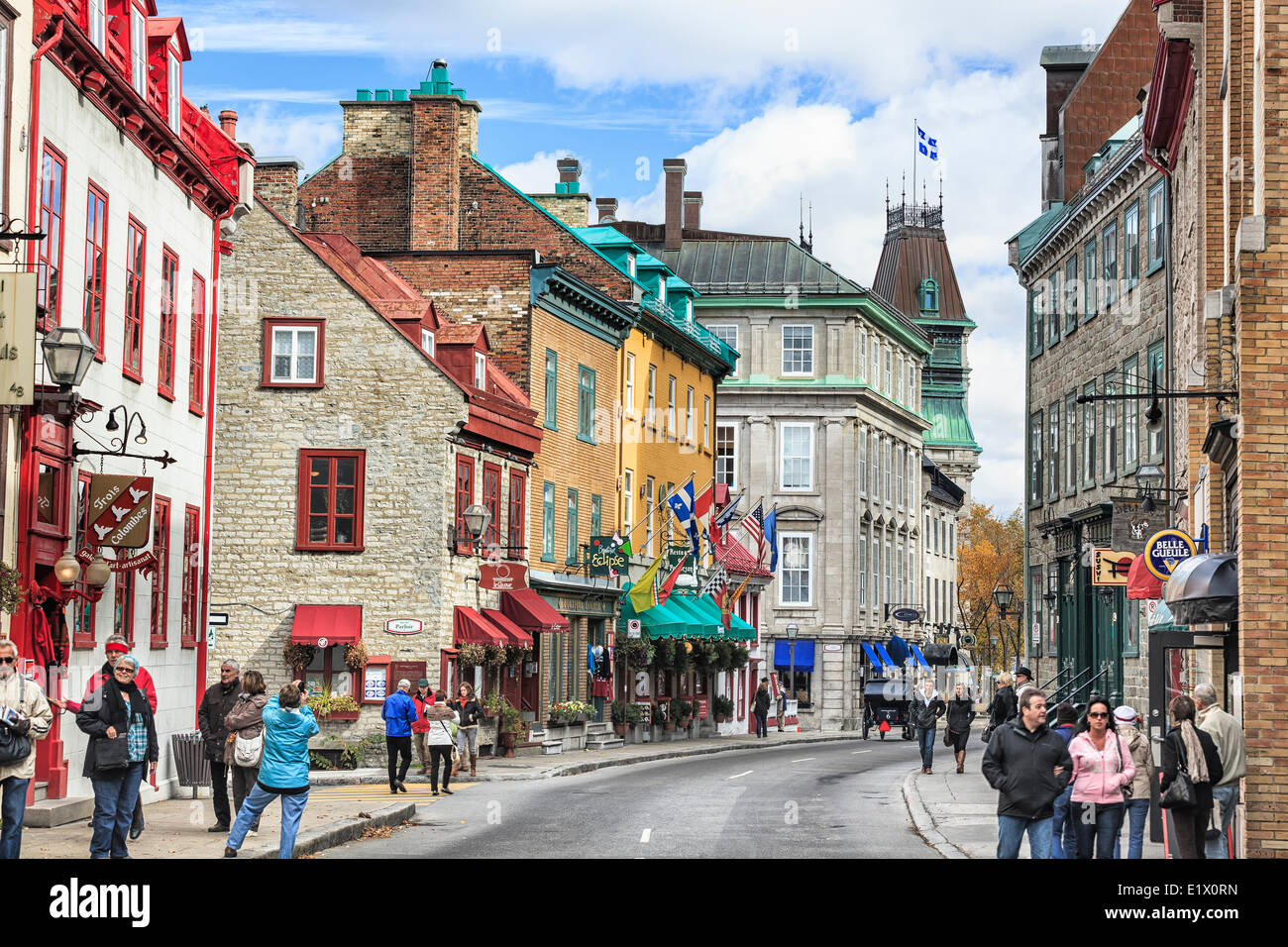 Rue Saint-Louis in the Upper Town area of historic Old Quebec, Quebec City, Quebec, Canada - Stock Image