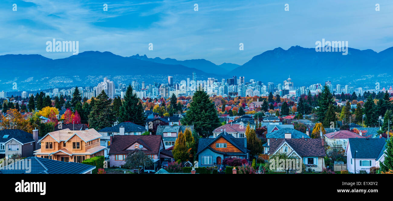 Neighbourhood. West 26th Ave and Cambie looking north, Vancouver, British Columbia, Canada - Stock Image