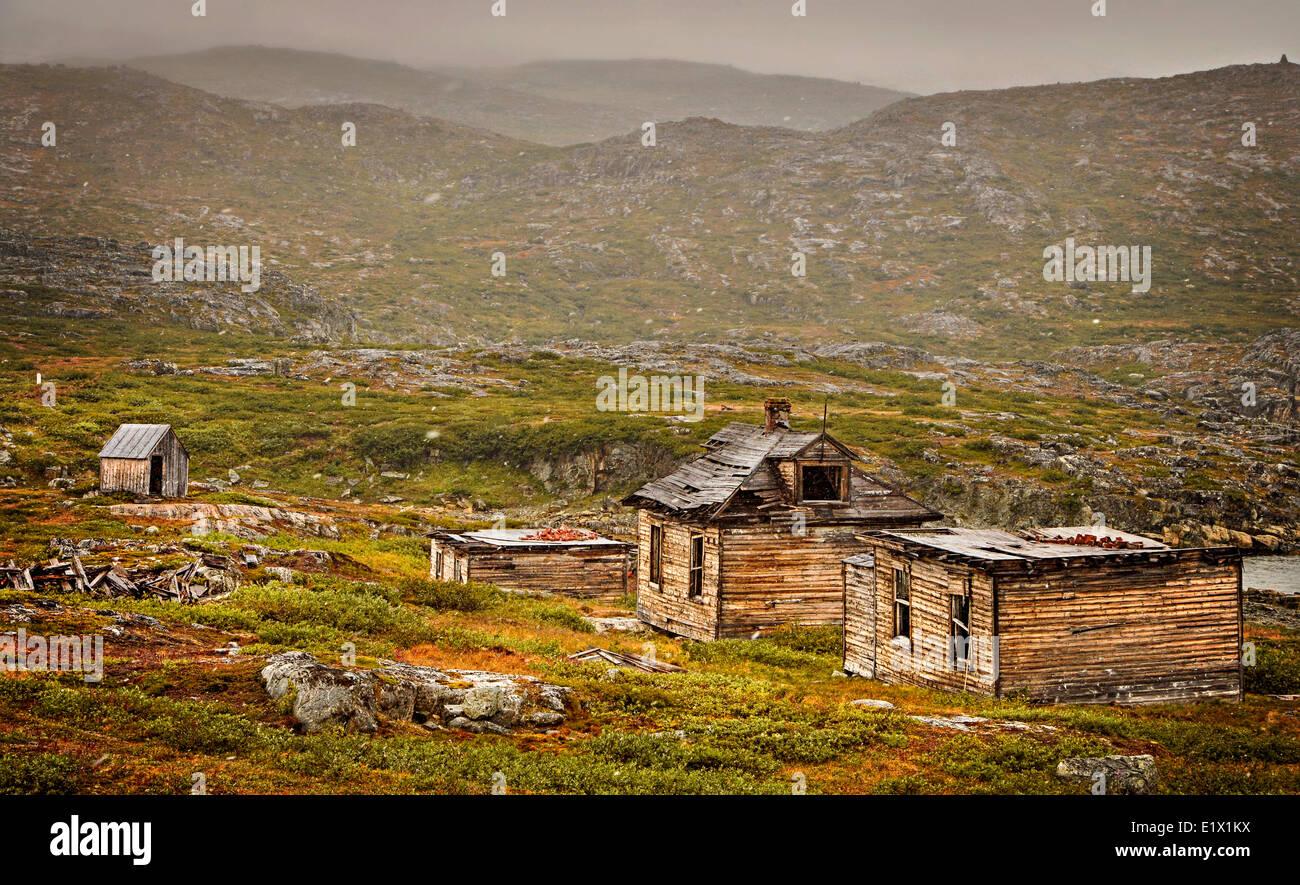 hebron, labrador, canada, arctic, moravian mission, abandoned community, old buildings, - Stock Image