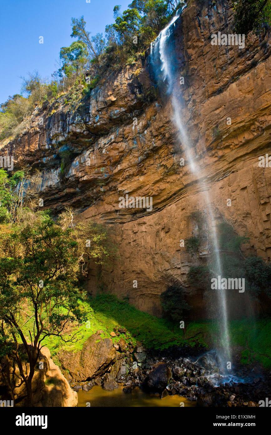 Bridal Veil Falls,Drakensberg of the Transvaal, Mpumalanga, South Africa - Stock Image
