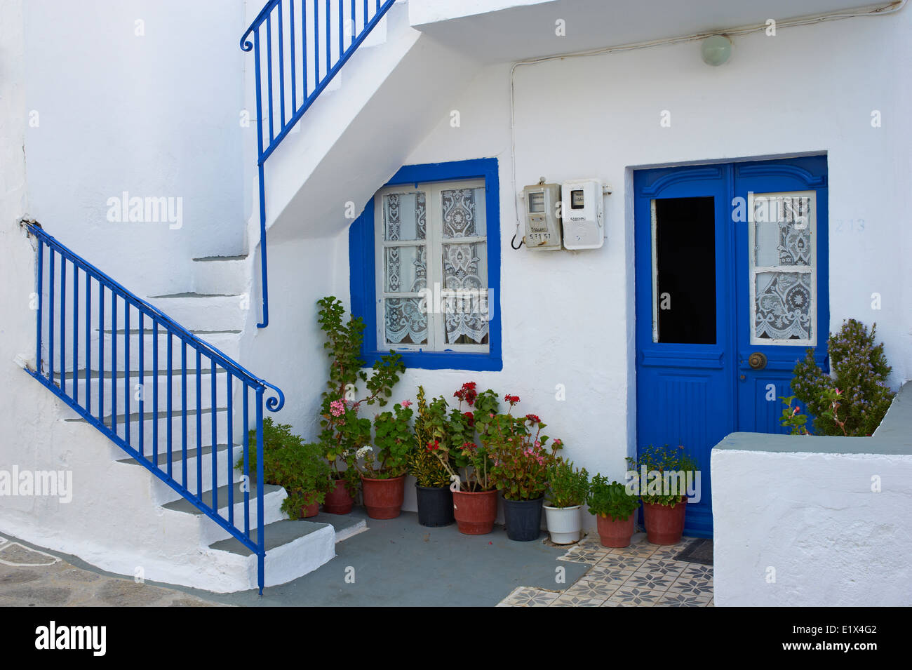Greece, Cyclades islands, Milos, Plaka city the island capital - Stock Image
