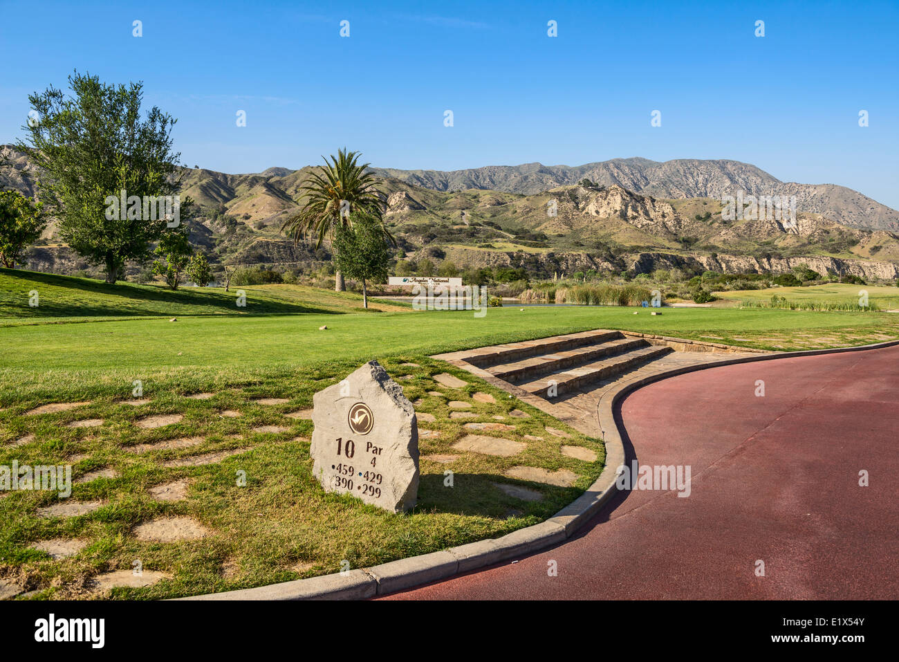 The magnificent Angeles National Golf Club course. - Stock Image
