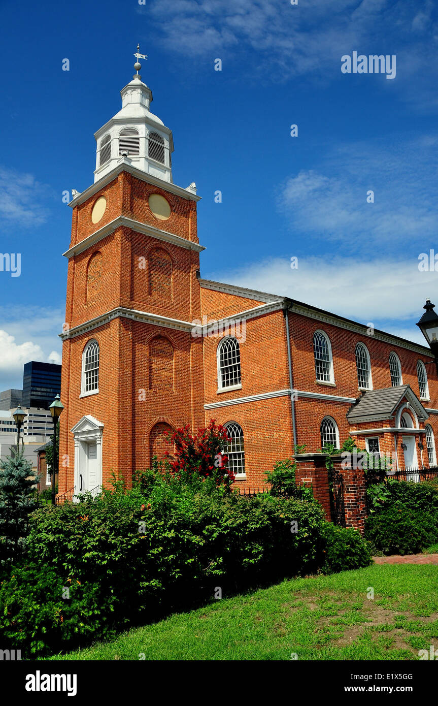 BALTIMORE, MD: The Old Otterbein Church, built in 1785, is the oldest house of worship in continual use in the city - Stock Image