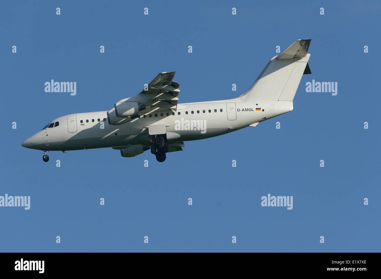 WDL Aviation BAe 146-200 on final approach Stock Photo
