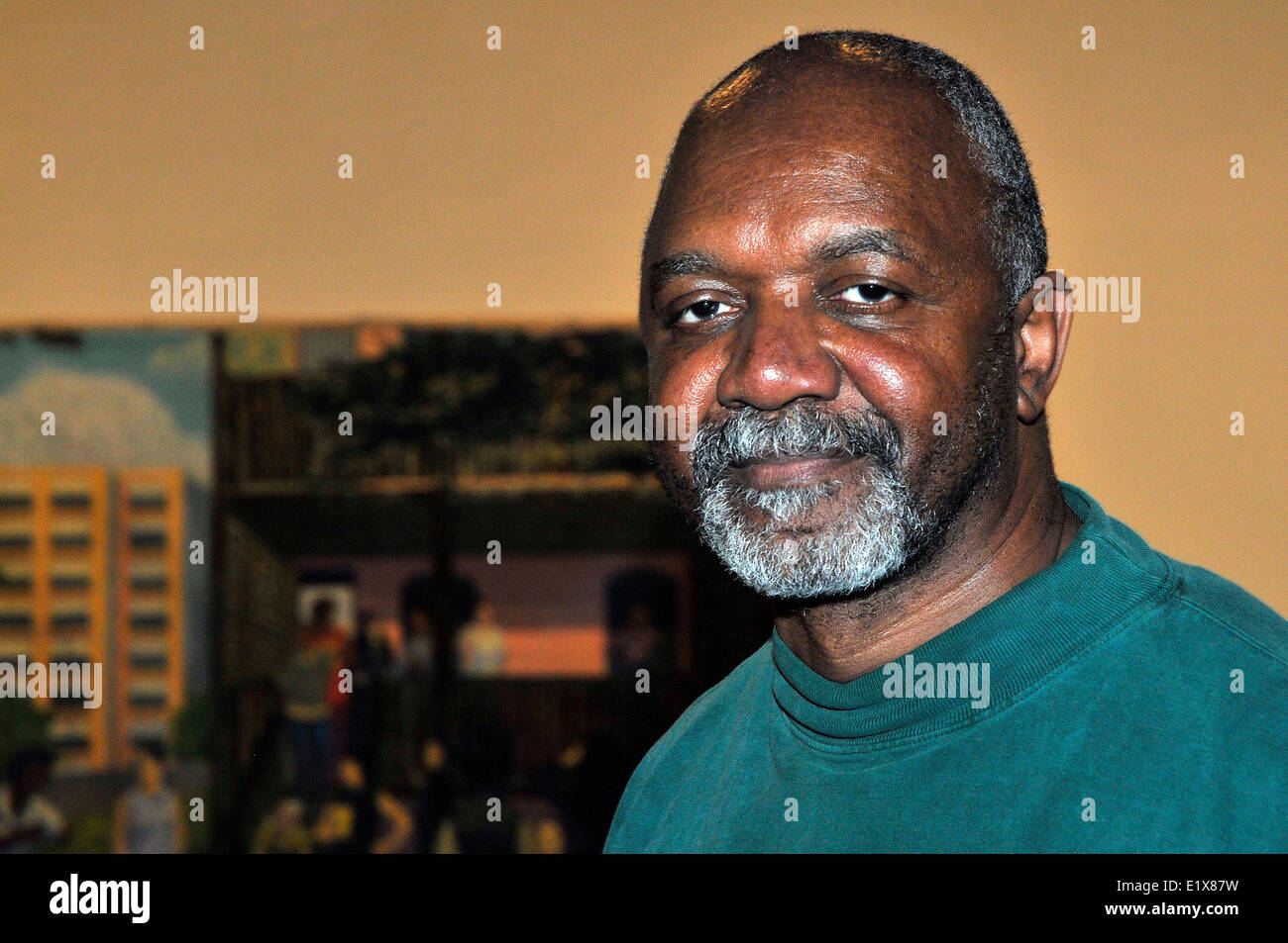 Madrid, Spain. 10th June, 2014. The American artist Kerry James Marshall exposes simultaneously at the  Tàpies  Stock Photo