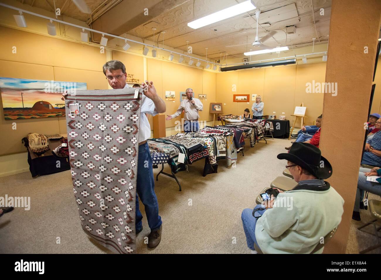Navajo Rug Auction - Stock Image