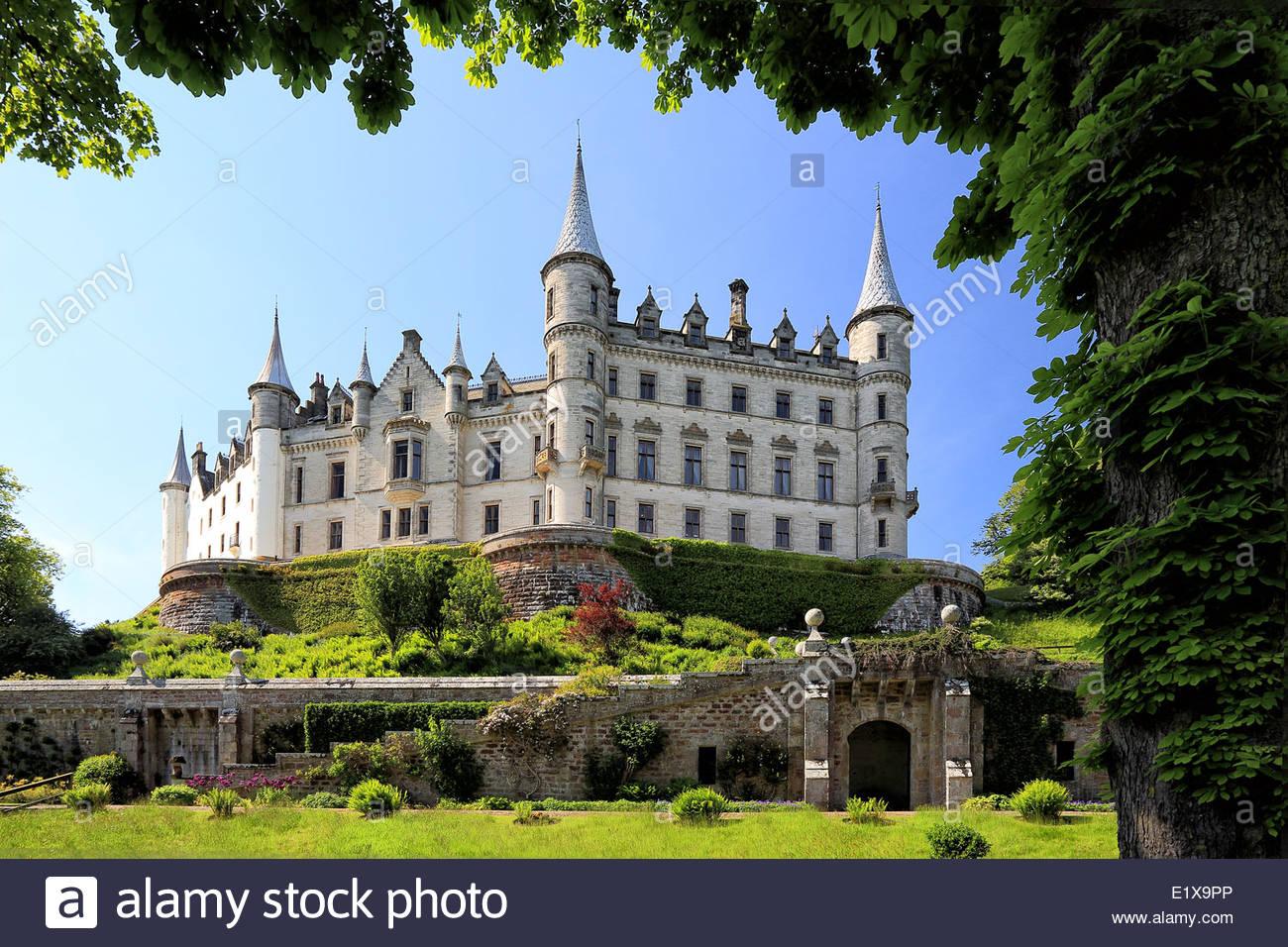 Dunrobin Castle and garden - Stock Image