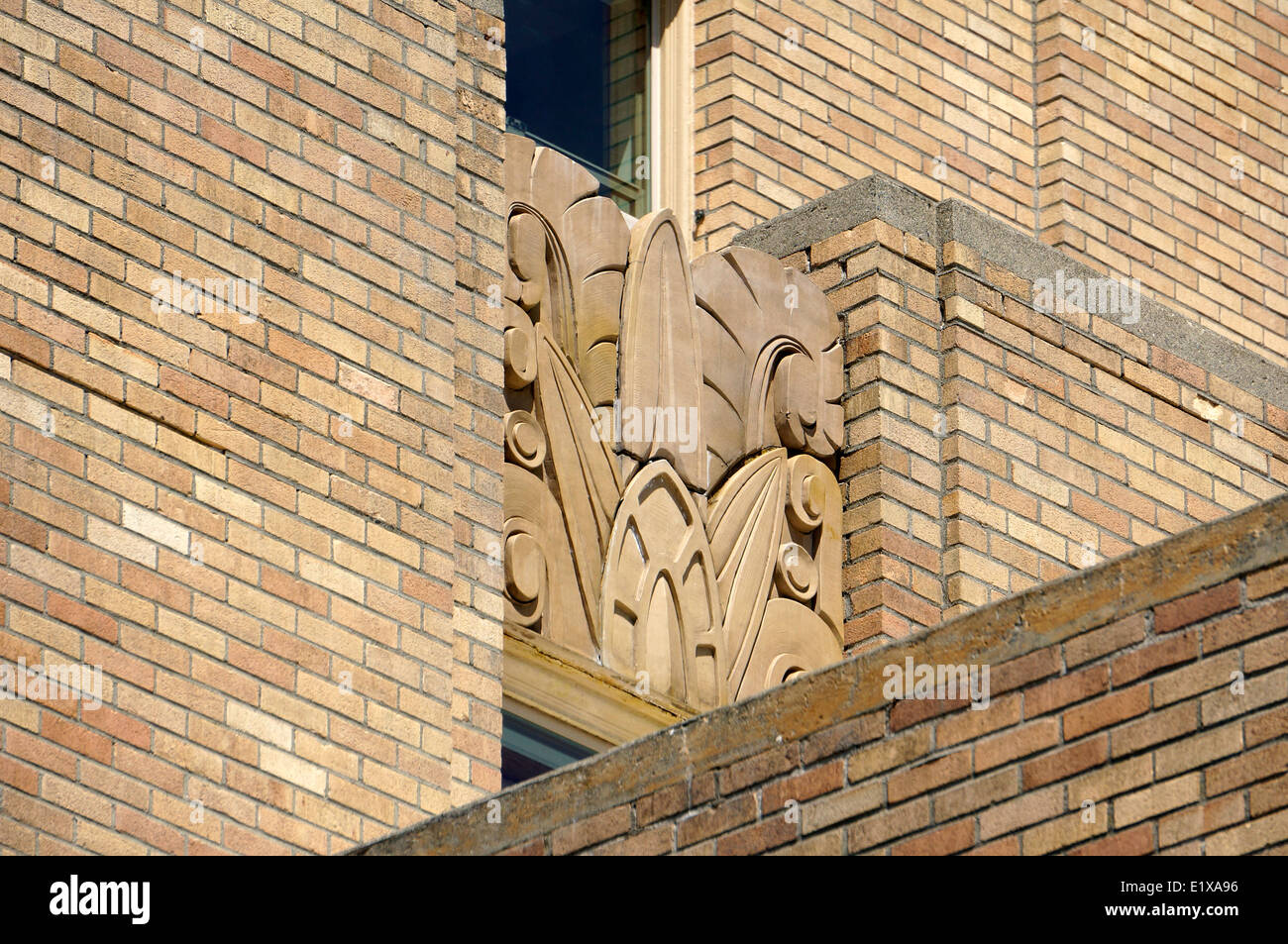 Art Deco design on the Bellingham Towers building, Bellingham Stock ...
