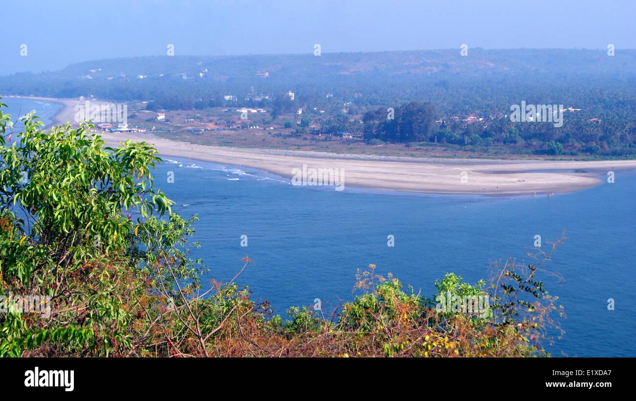 Goa Beach Goa India Landscape and Nature Scenery Wide view - Stock Image