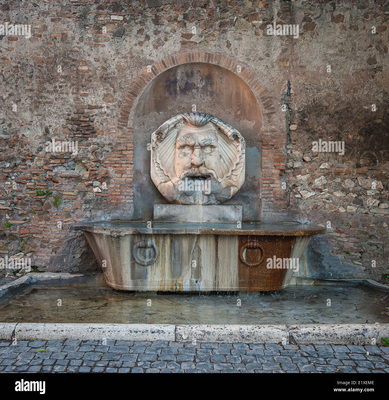 Fountain in Aventine Hill, Rome, Italy - Stock Image