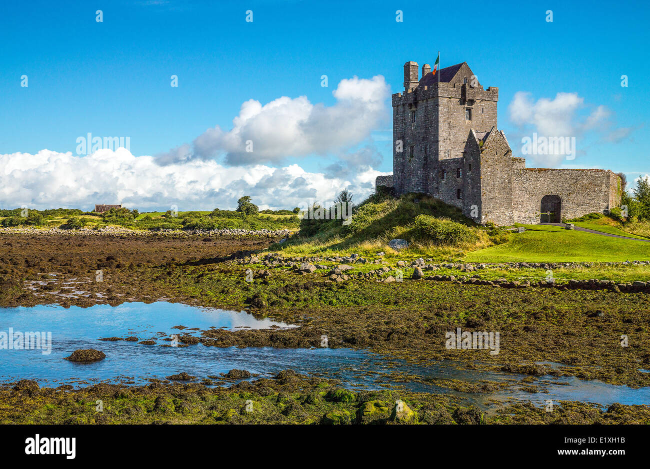 Ireland, Galway county, the Dunguaire castle - Stock Image