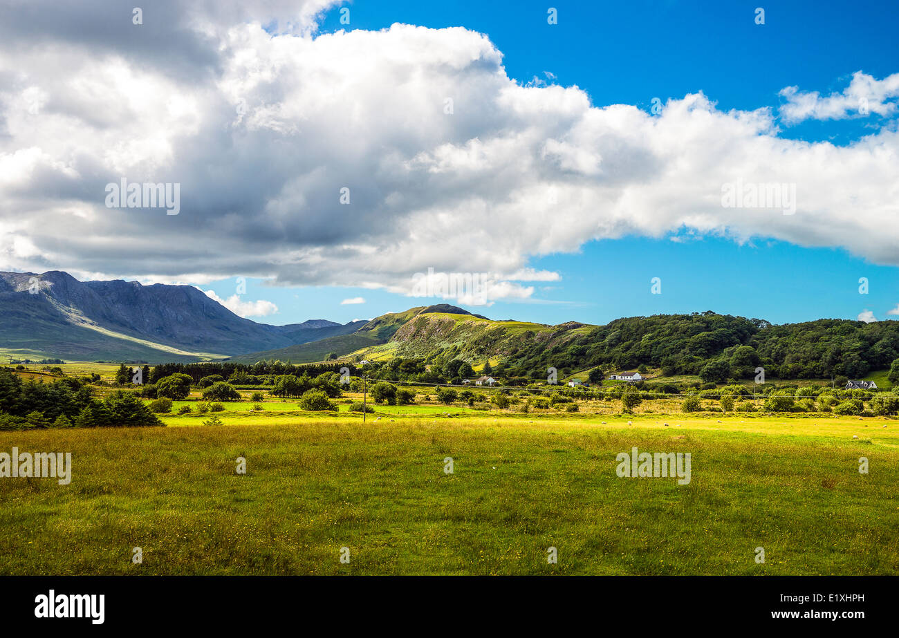 Ireland, Galway county, landscape of the Connemara area, - Stock Image