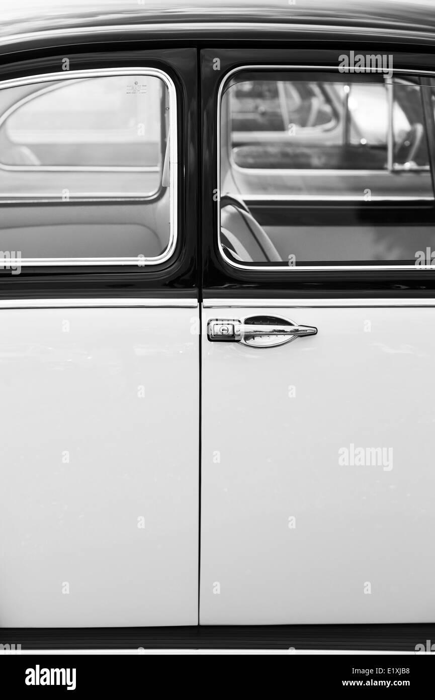 VW Beetle car door abstract. Monochrome - Stock Image
