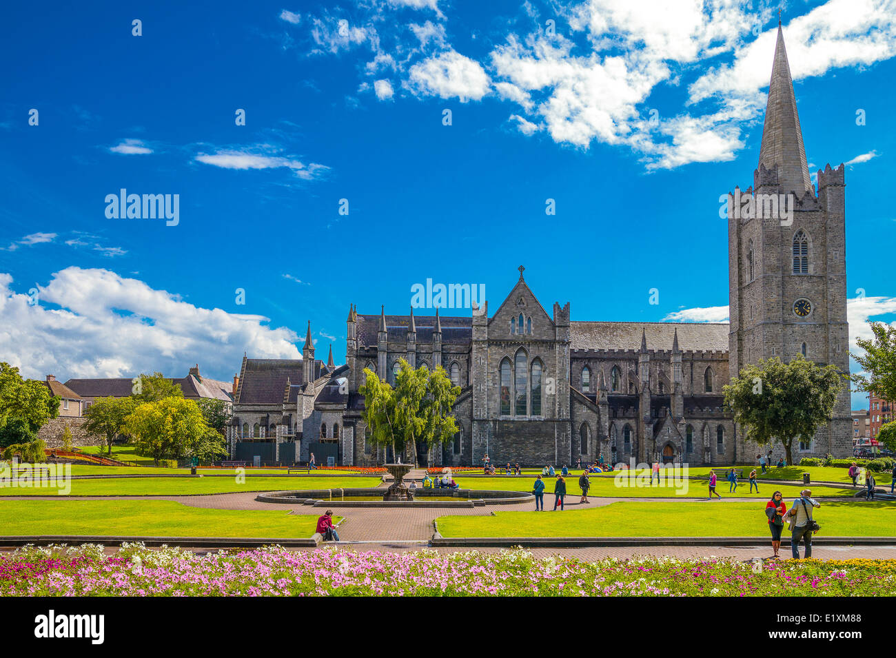 Ireland, Dublin, the St Patrik's gardens and cathedral Stock Photo