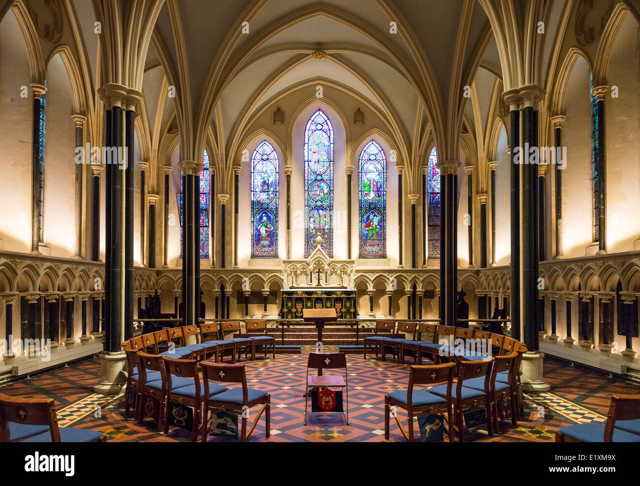 Ireland, Dublin, the interior of the St Patrik's cathedral - Stock Image