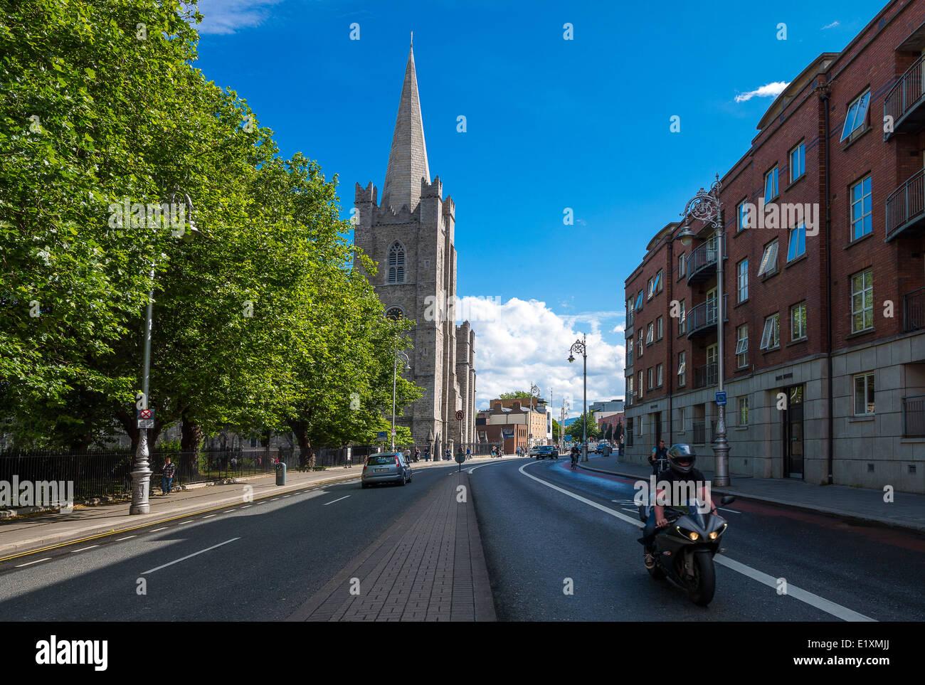 Ireland, Dublin, the St Patrik's cathedral - Stock Image