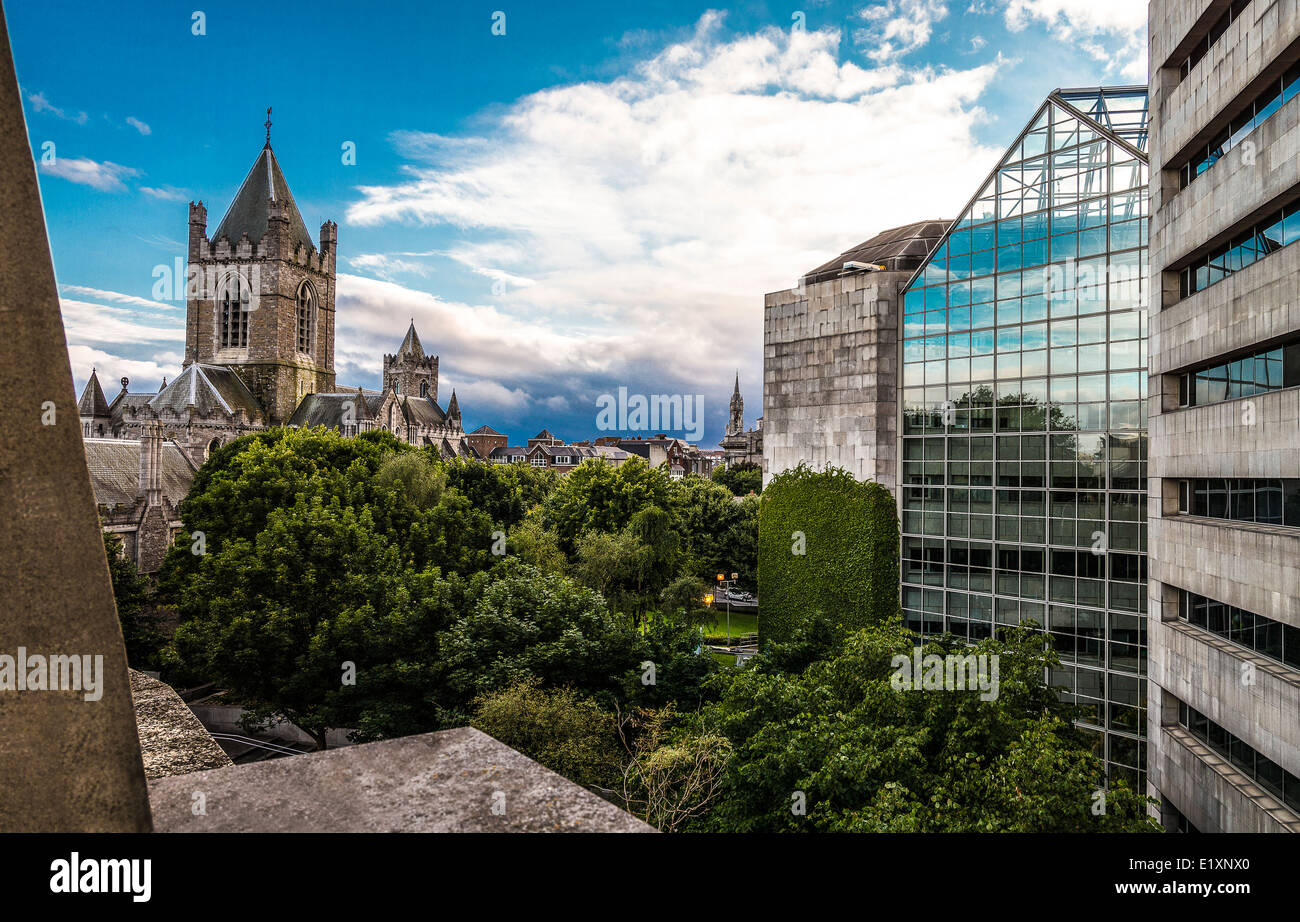 Ireland, Dublin, the Christchurch cathedral - Stock Image