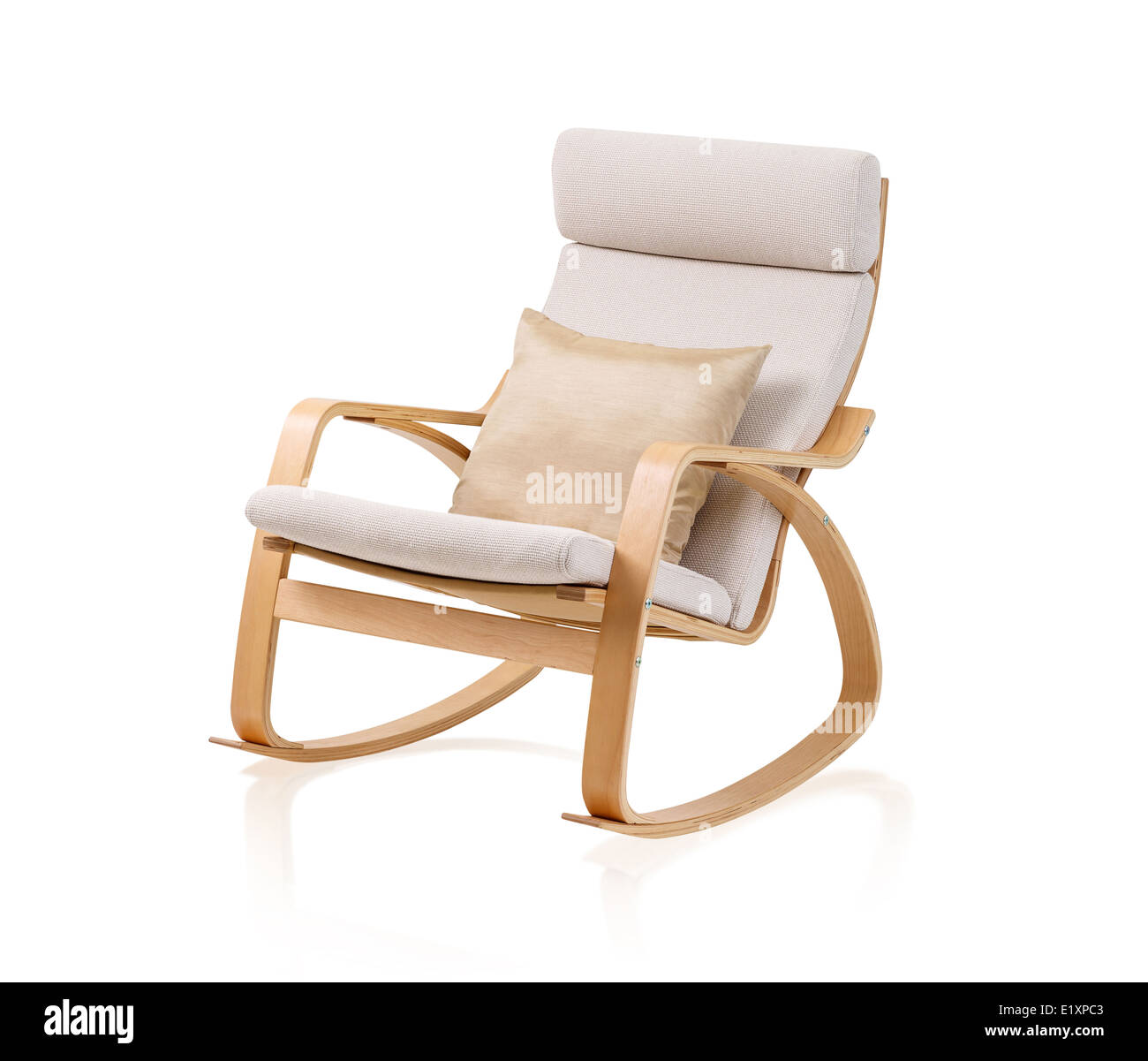 Amazing Modern Rocking Chair And Cushion Isolated On White Stock Bralicious Painted Fabric Chair Ideas Braliciousco