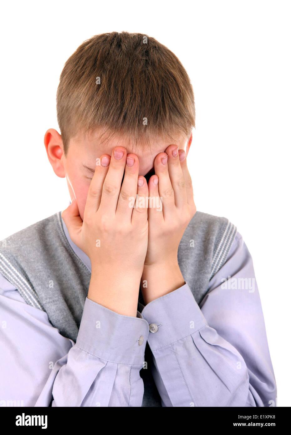 Sorrowful Boy - Stock Image