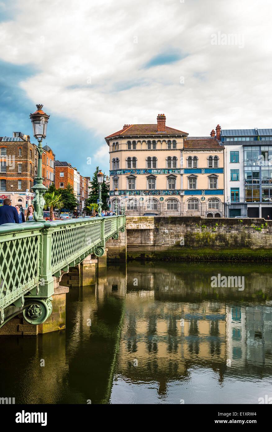 Ireland, Dublin, the Essex bridge - Stock Image