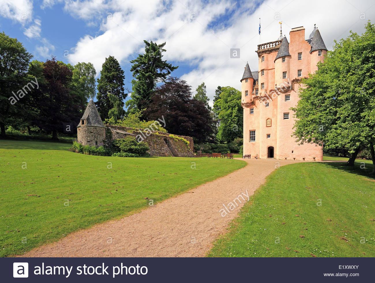 Cragievar Castle in Aberdeenshire - Stock Image