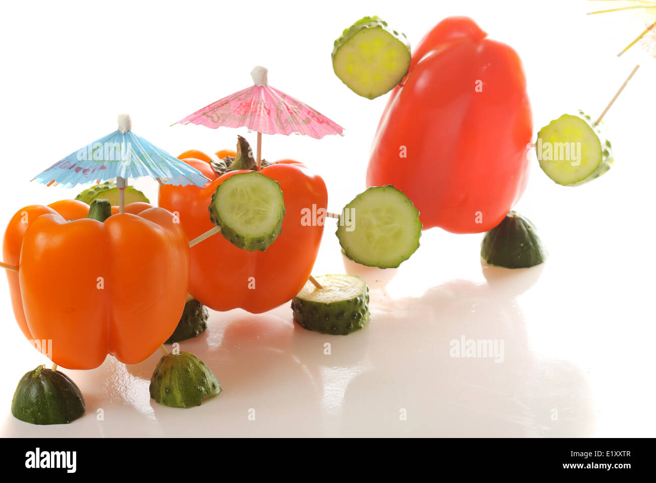 Three paprika personages - Stock Image