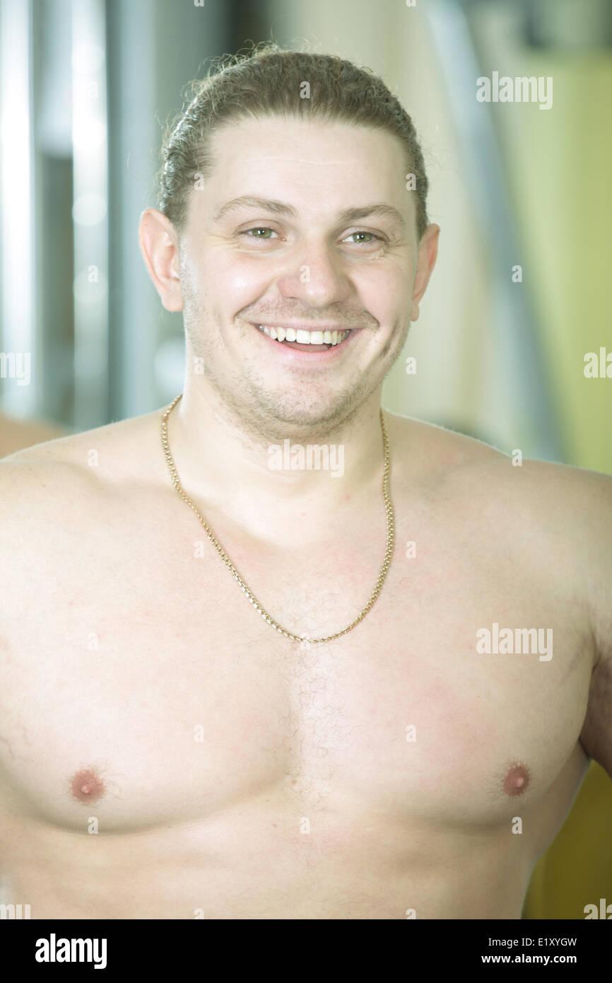 Funny bodybuilder - Stock Image