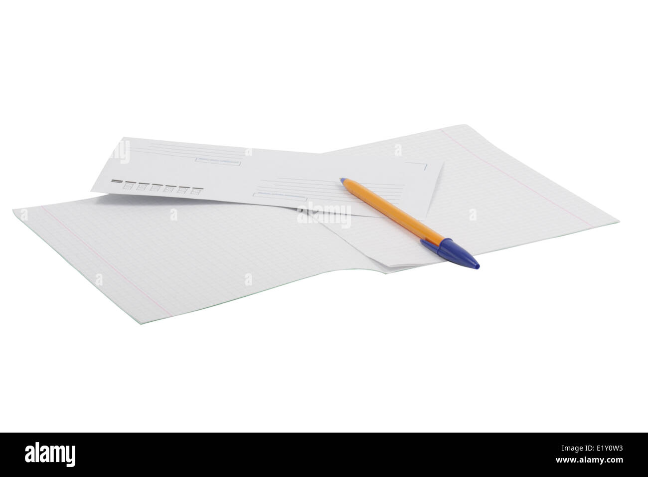 Correspondence set - Stock Image