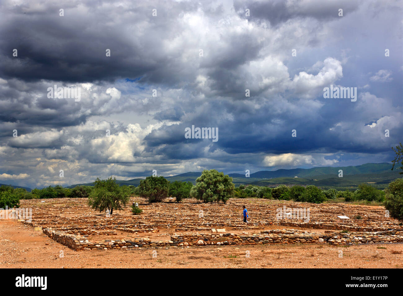 At the archaeological site of Ancient Olynthos (Olynthus), Polygyros municipality, Halkidiki ('Chalkidiki'), - Stock Image