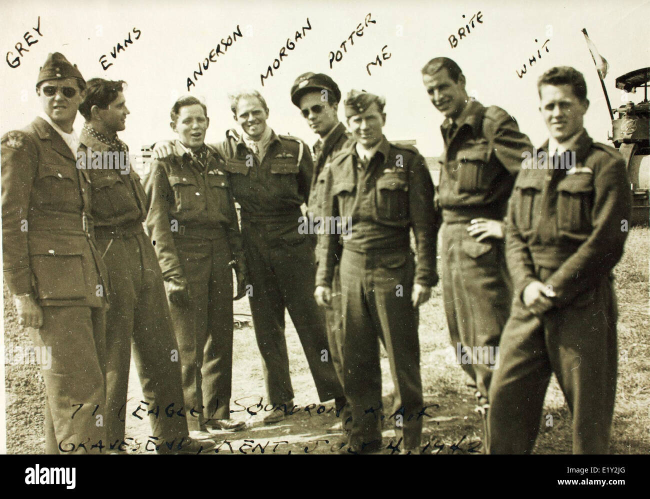 71 Eagle Squadron R A F  July, 4 1942 Stock Photo: 70050920