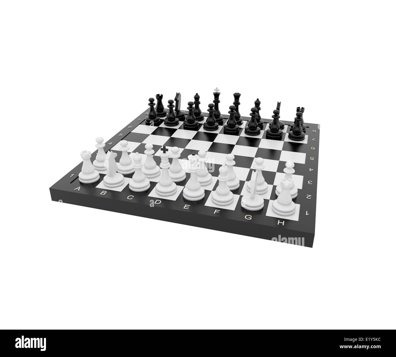 Plastic chess - Stock Image